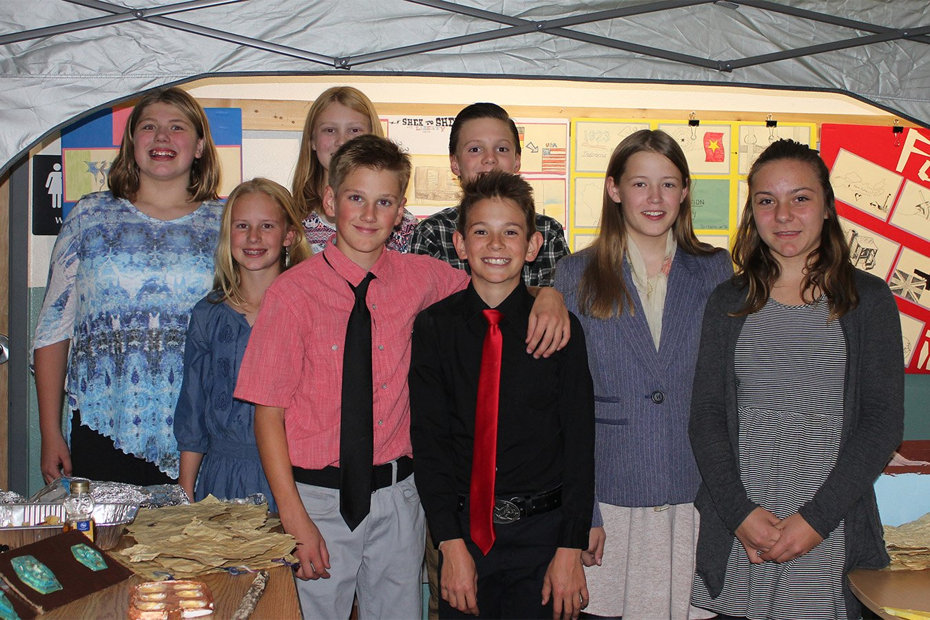 7th grade students at an exhibition